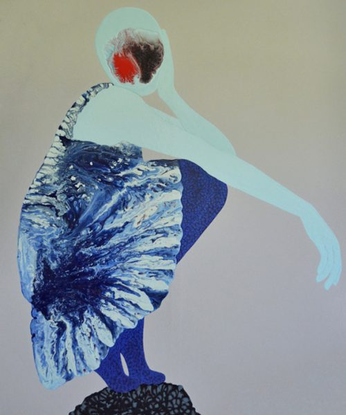Reflection - Women paintings series by Angela Smith