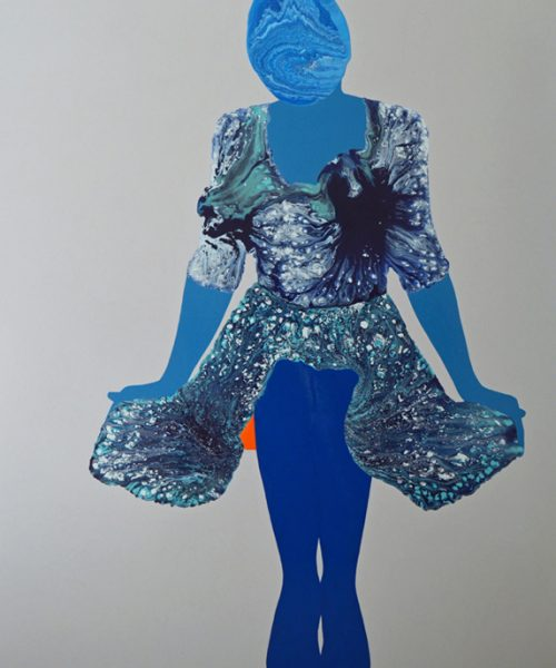 Ripple - Women paintings series by Angela Smith