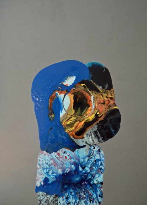 Spectator - Almost human painting by Angela Smith